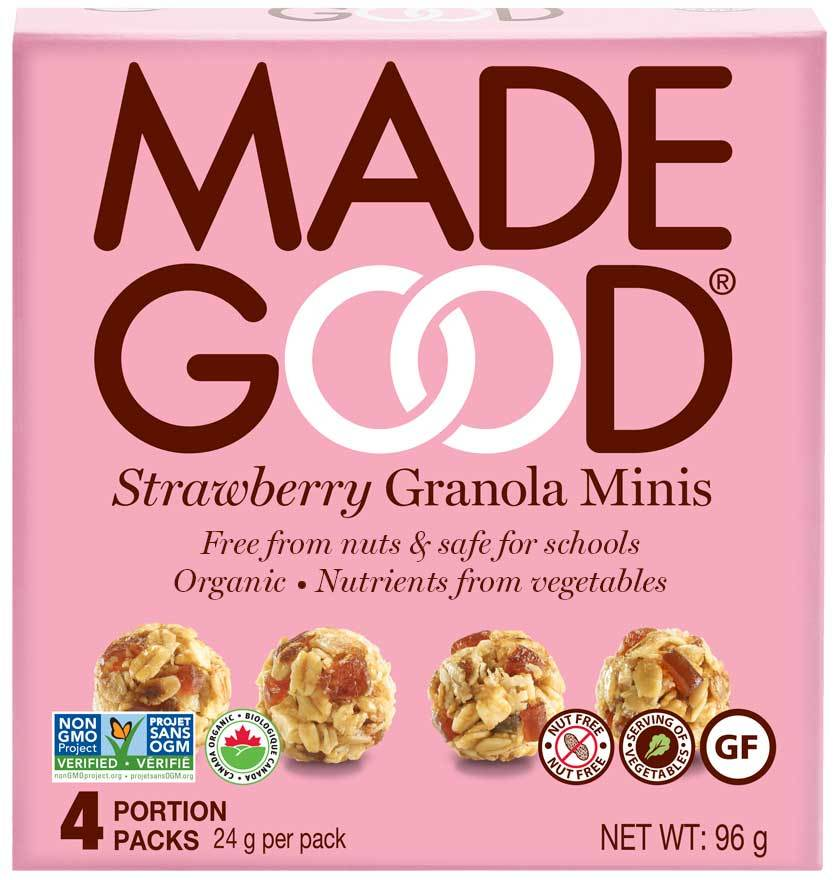 Food & Drink - Made Good - Granola Minis - Strawberry - 4x24g