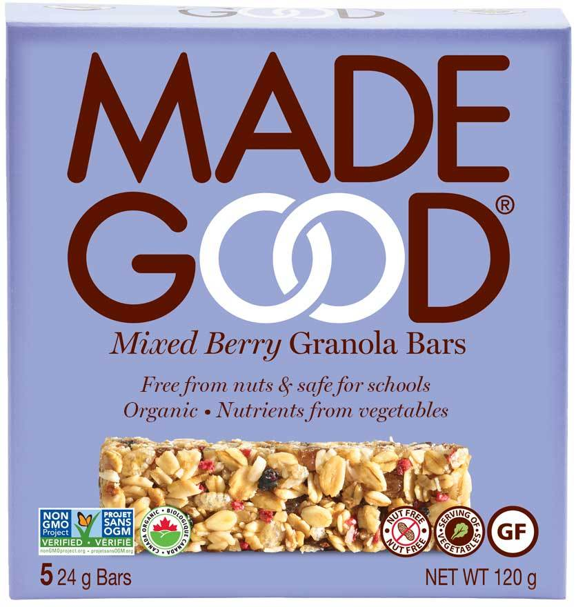 Food & Drink - Made Good - Mixed Berry Granola Bar, 5 X 24g