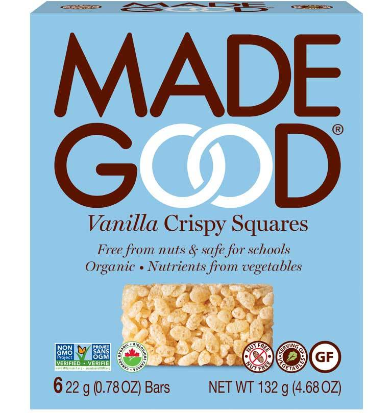 Food & Drink - Made Good - Organic Crispy Squares - Vanilla -132g