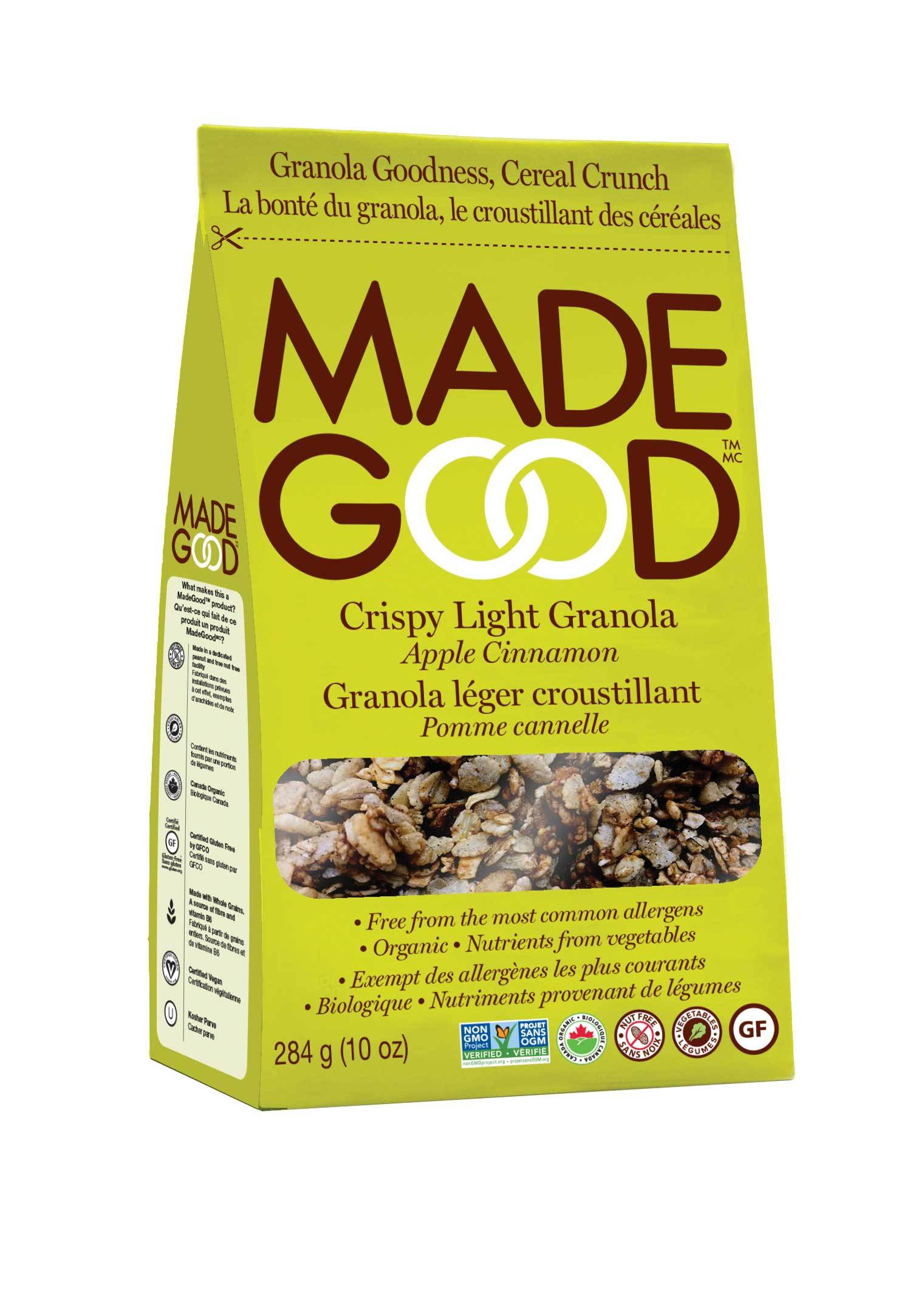 Food & Drink - Made Good - Organic Light Granola - Apple Cinnamon, 284g