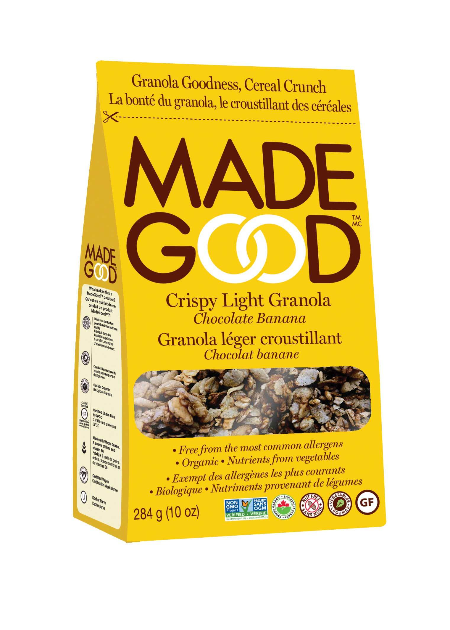 Food & Drink - Made Good - Organic Light Granola - Chocolate Banana, 284g