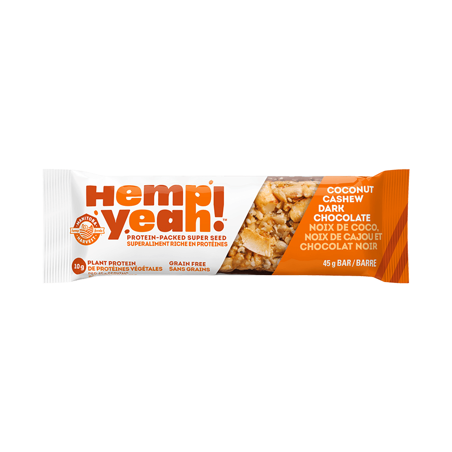 Food & Drink - Manitoba Harvest - Hemp Yeah! Bar (Coconut Cashew Dark Chocolate), 45g
