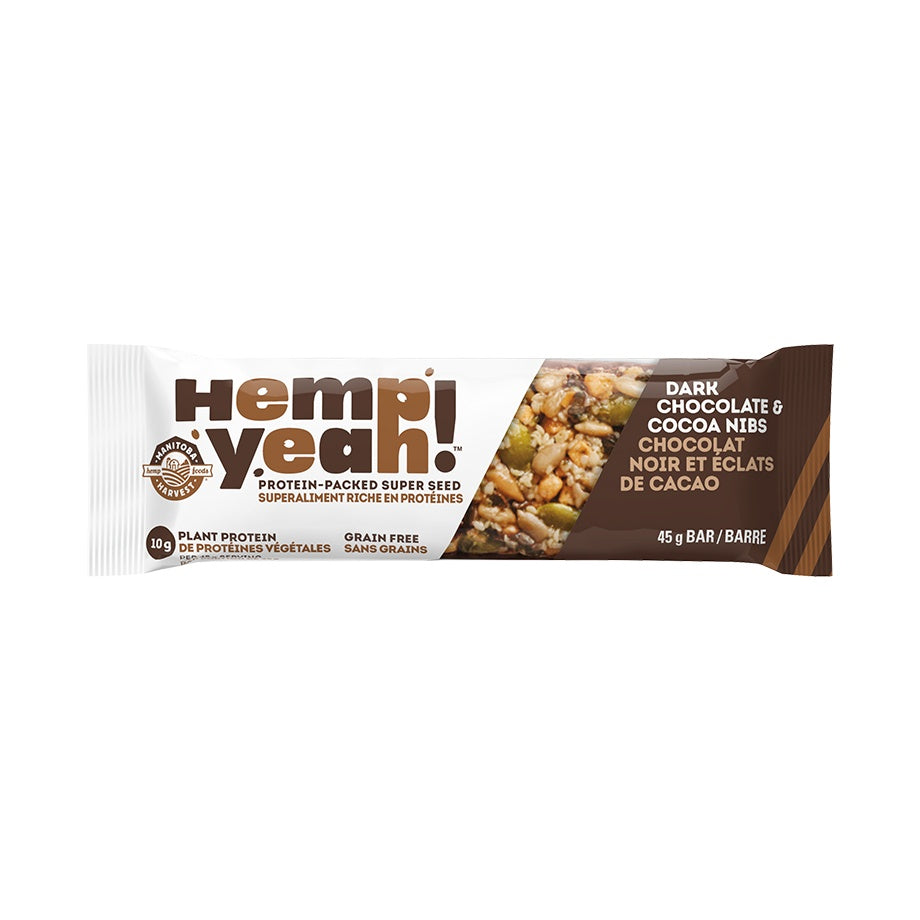 Food & Drink - Manitoba Harvest - Hemp Yeah! Bar (Dark Chocolate & Cocoa Nibs), 45g