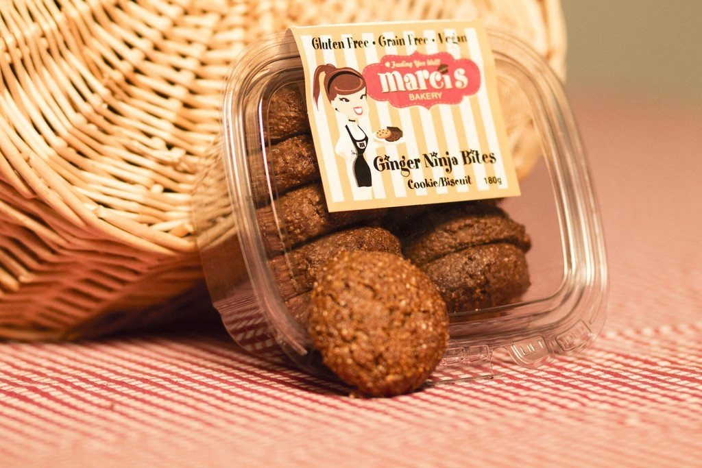 Food & Drink - Marci's Bakery - Ginger Ninja Bites, 180g