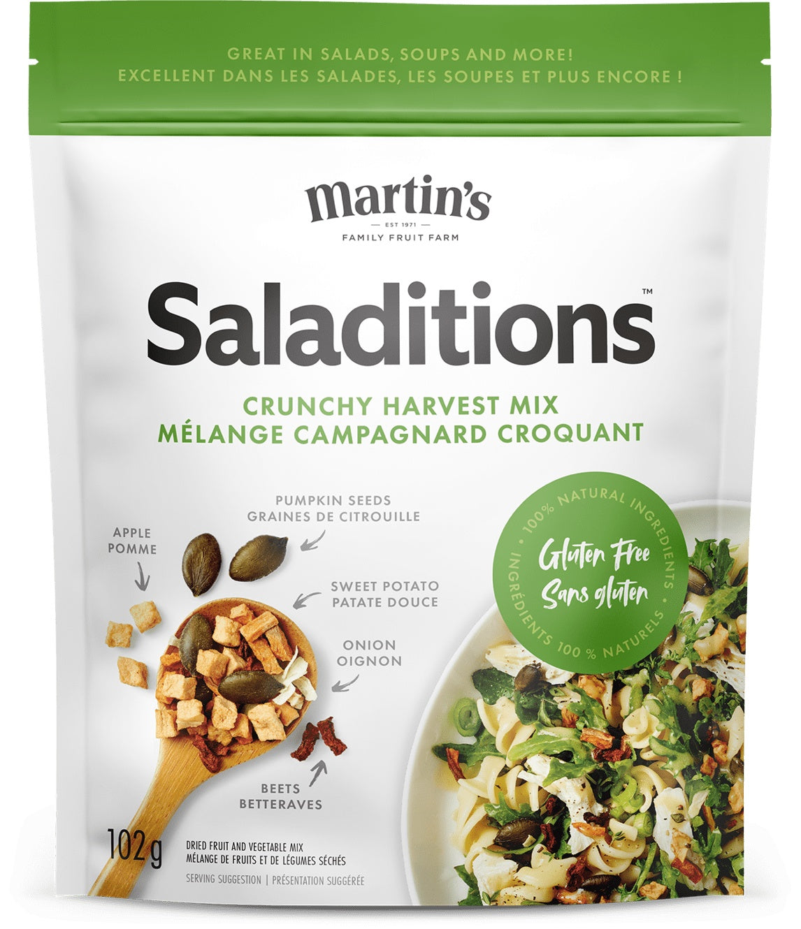 Food & Drink - Martin's - Saladitions, Crunchy Harvest Mix, 102g