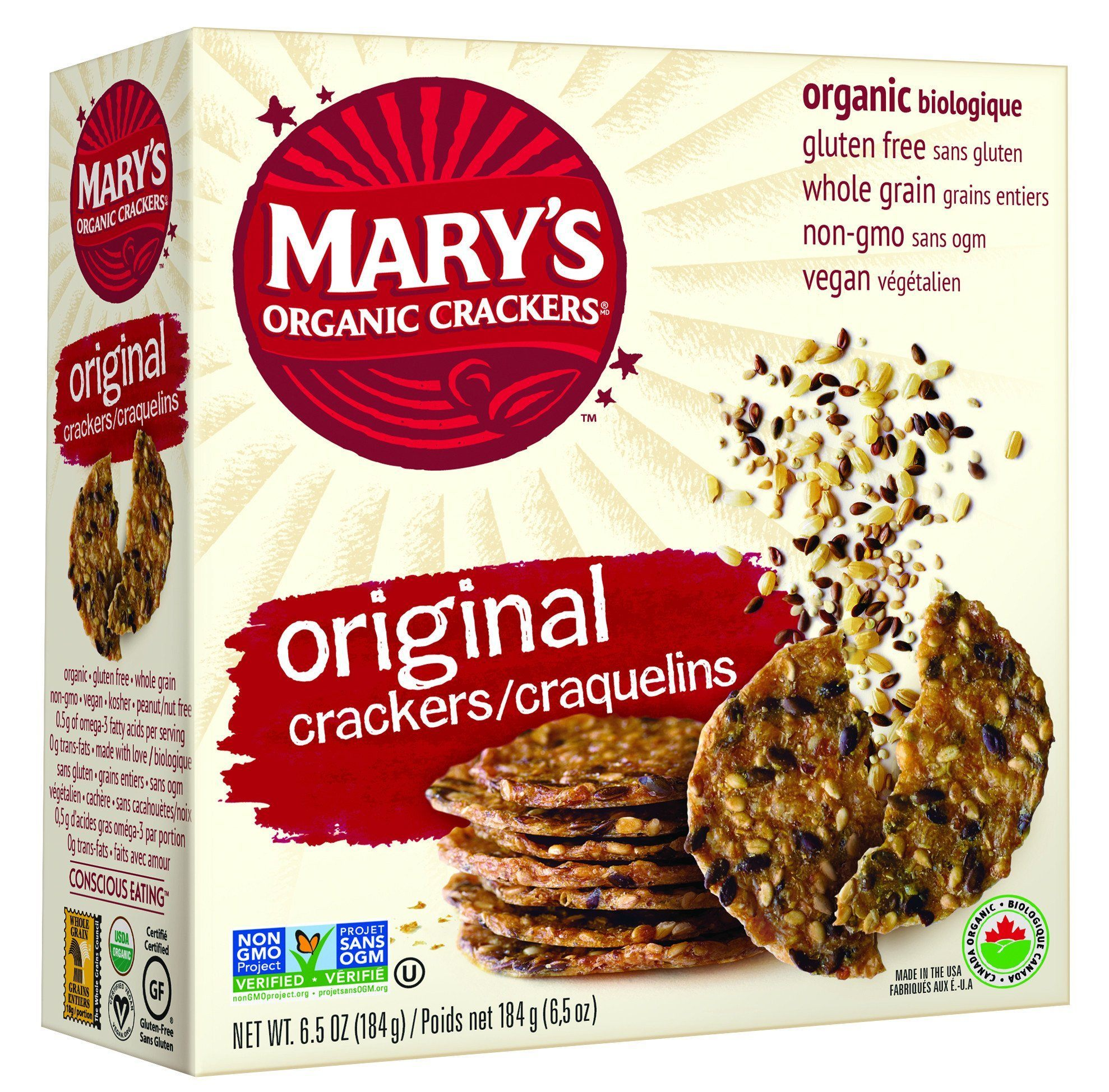 Food & Drink - Mary's Organic - Original Crackers, 184g