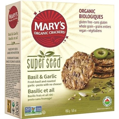 Food & Drink - Mary's Organic - Super Seed - Basil & Garlic, 155G