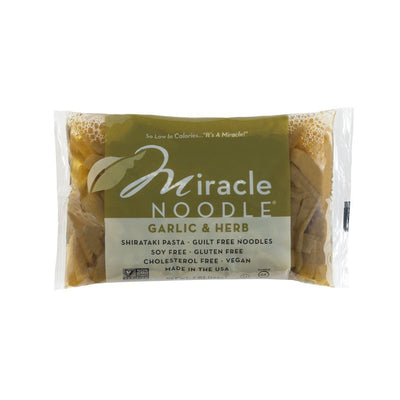 Food & Drink - Miracle Noodle - Garlic & Herb Fettuccini Pasta, 198g