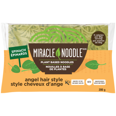 Food & Drink - Miracle Noodle - Spinach Angel Hair Pasta, 198g