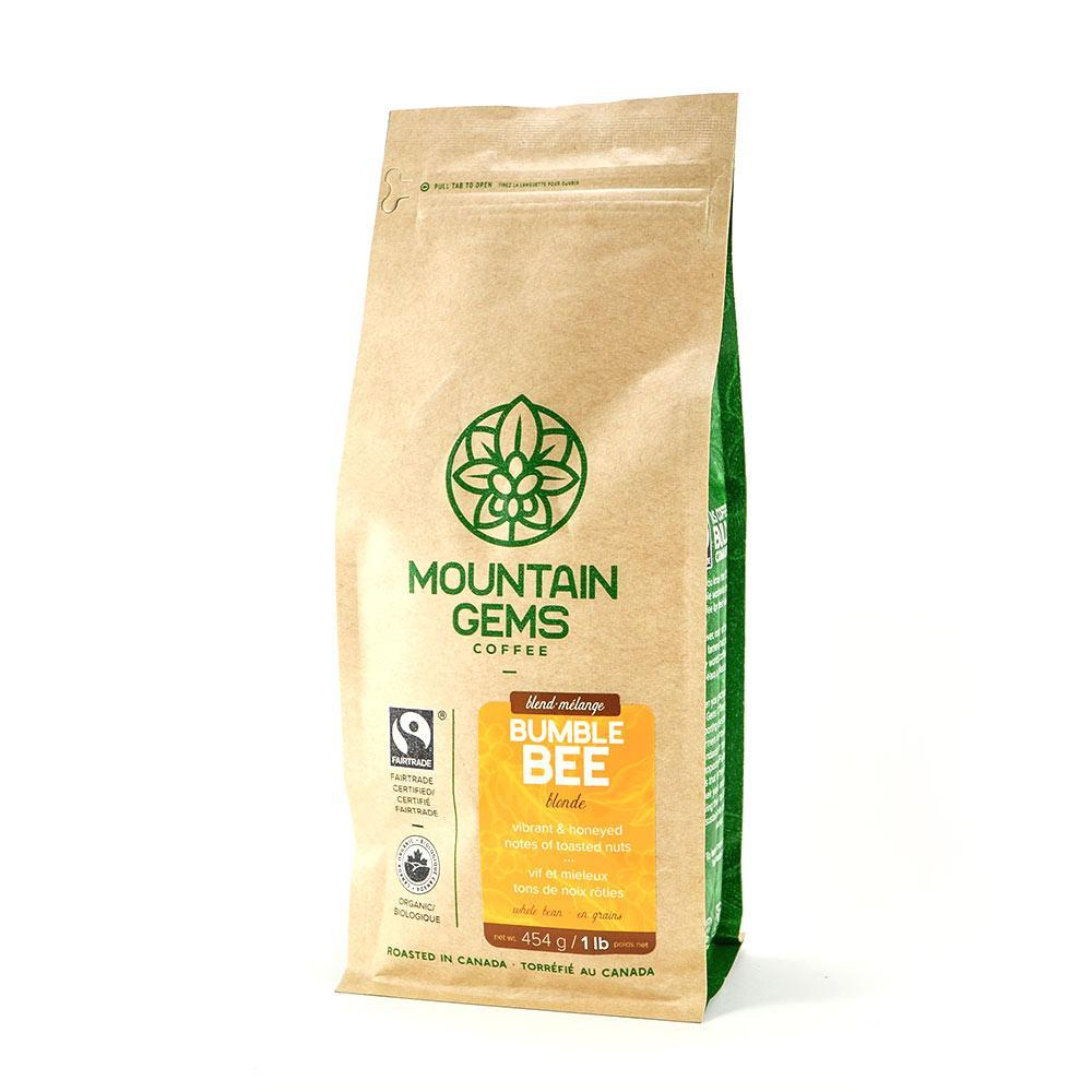 Food & Drink - Mountain Gems - Bumblebee Blend Blonde Roast (Whole Bean), 454g