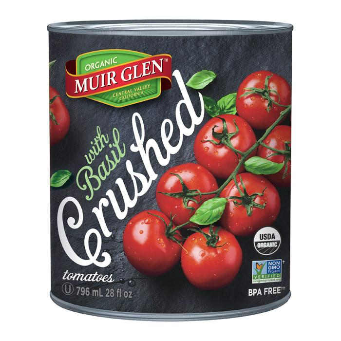 Food & Drink - Muir Glen - Crushed Tomatoes With Basil, 796ml