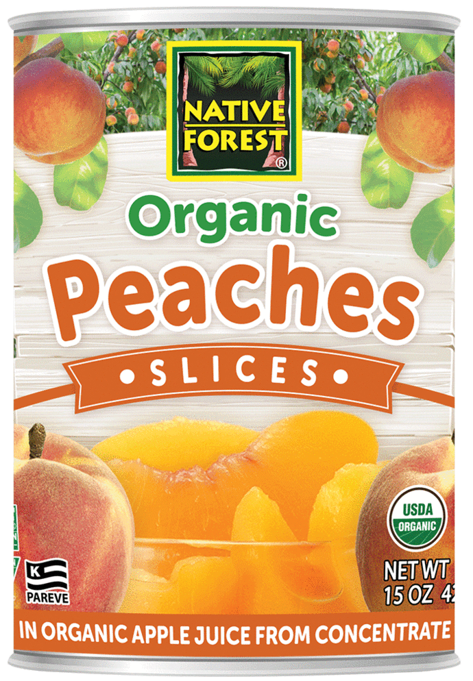 Food & Drink - Native Forest - Organic Sliced Peaches, 398ml
