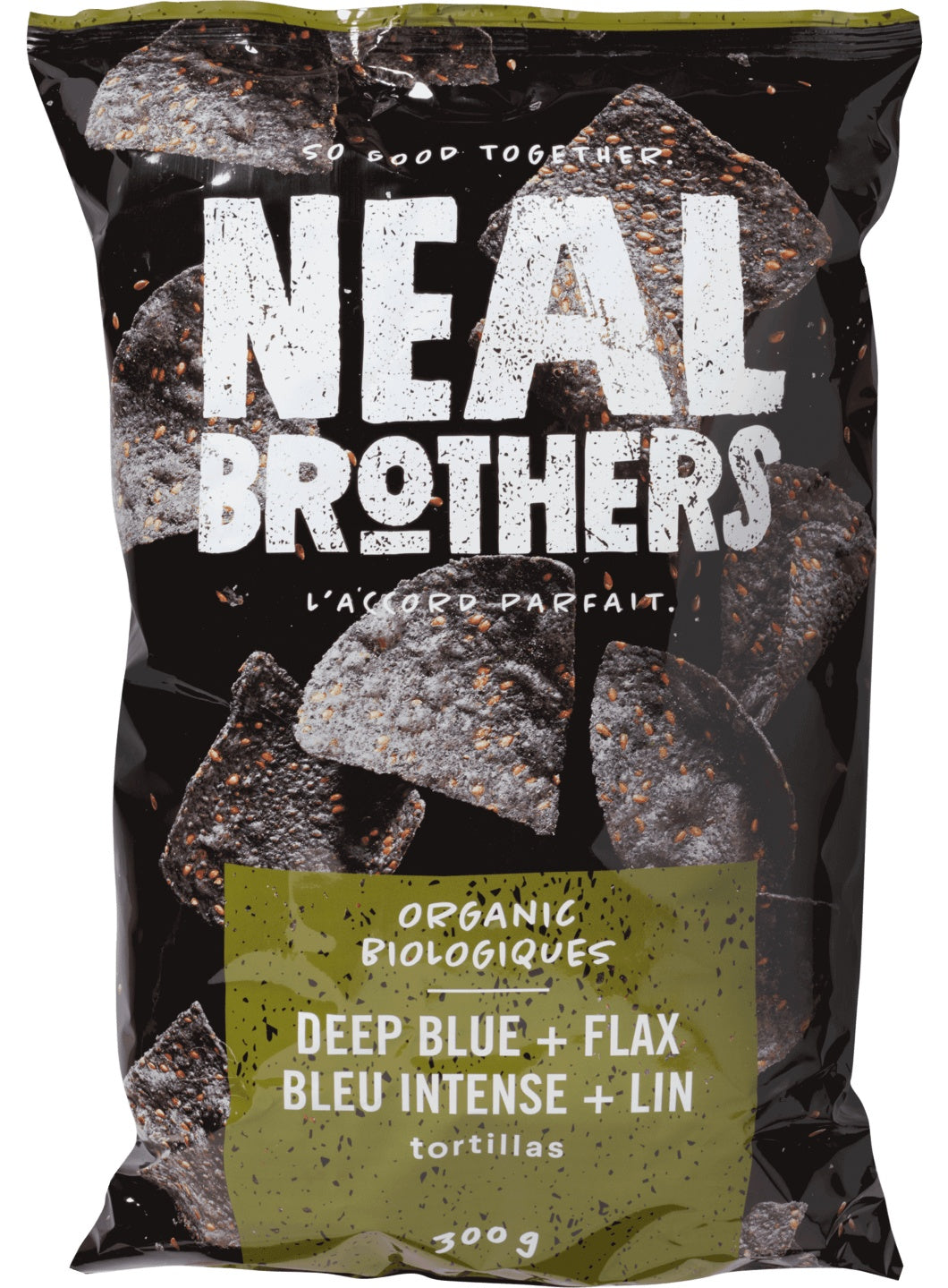 Food & Drink - Neal Brothers - Organic Deep Blue Tortilla Chips With Flax, 300g