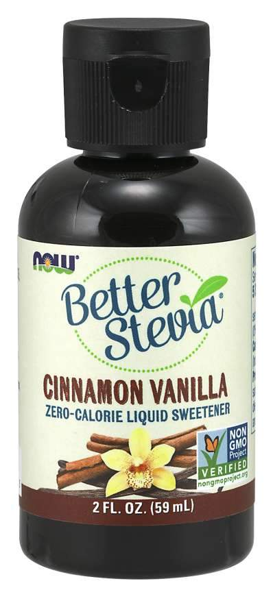 Food & Drink - NOW Better Stevia Cinnamon Vanilla 59ml