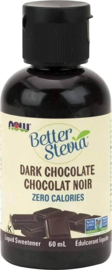 Food & Drink - NOW Better Stevia Dark Chocolate, 60ml