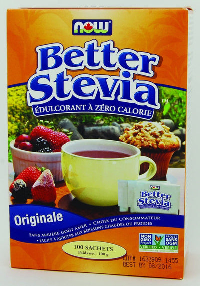 Food & Drink - NOW - Better Stevia Extract Packets, 100 Packets