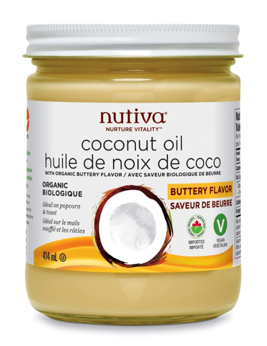 Food & Drink - Nutiva - Coconut Oil Butter Flavour, 414ml