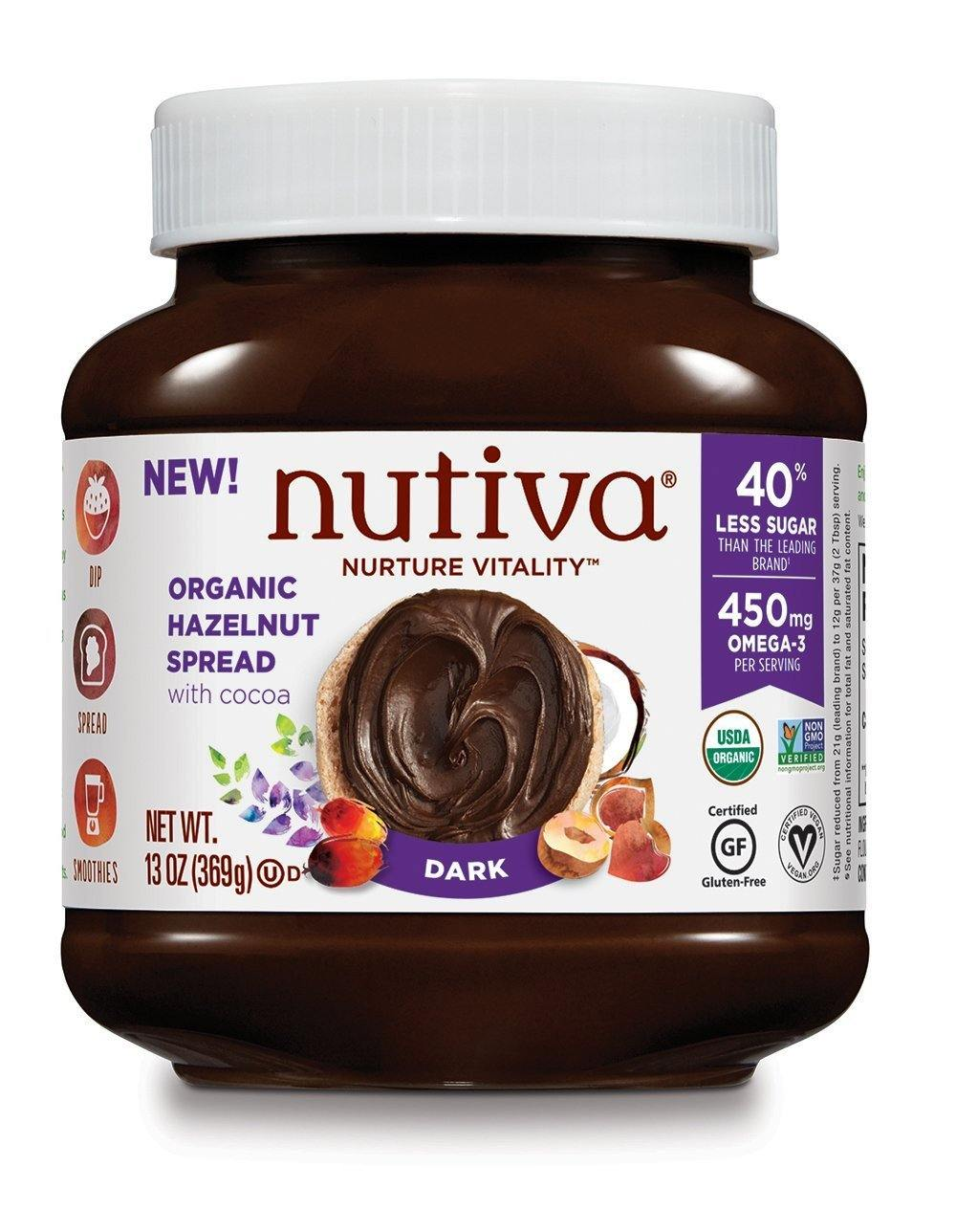 Food & Drink - Nutiva - Hazelnut Spread- Dark - 369g