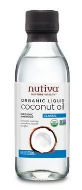 Food & Drink - Nutiva - Liquid Coconut Oil, 236ml