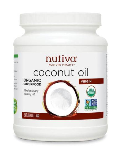 Food & Drink - Nutiva -  Organic Virgin Coconut Oil,  1.6L
