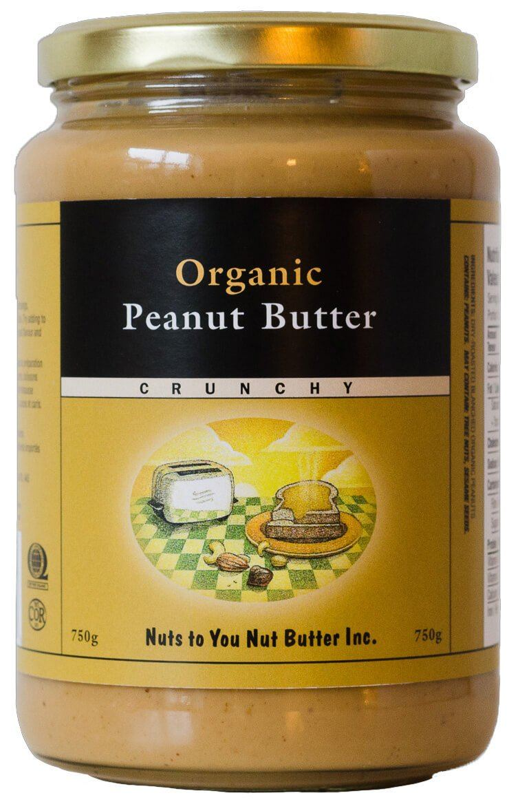 Food & Drink - Nuts To You Nut Butter Inc. - Organic Peanut Butter Crunchy, 750g