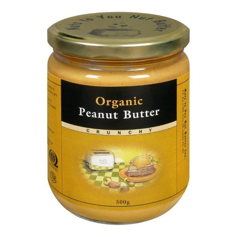 Food & Drink - Nuts To You Nut Butter - Organic Crunchy Peanut Butter, 500g