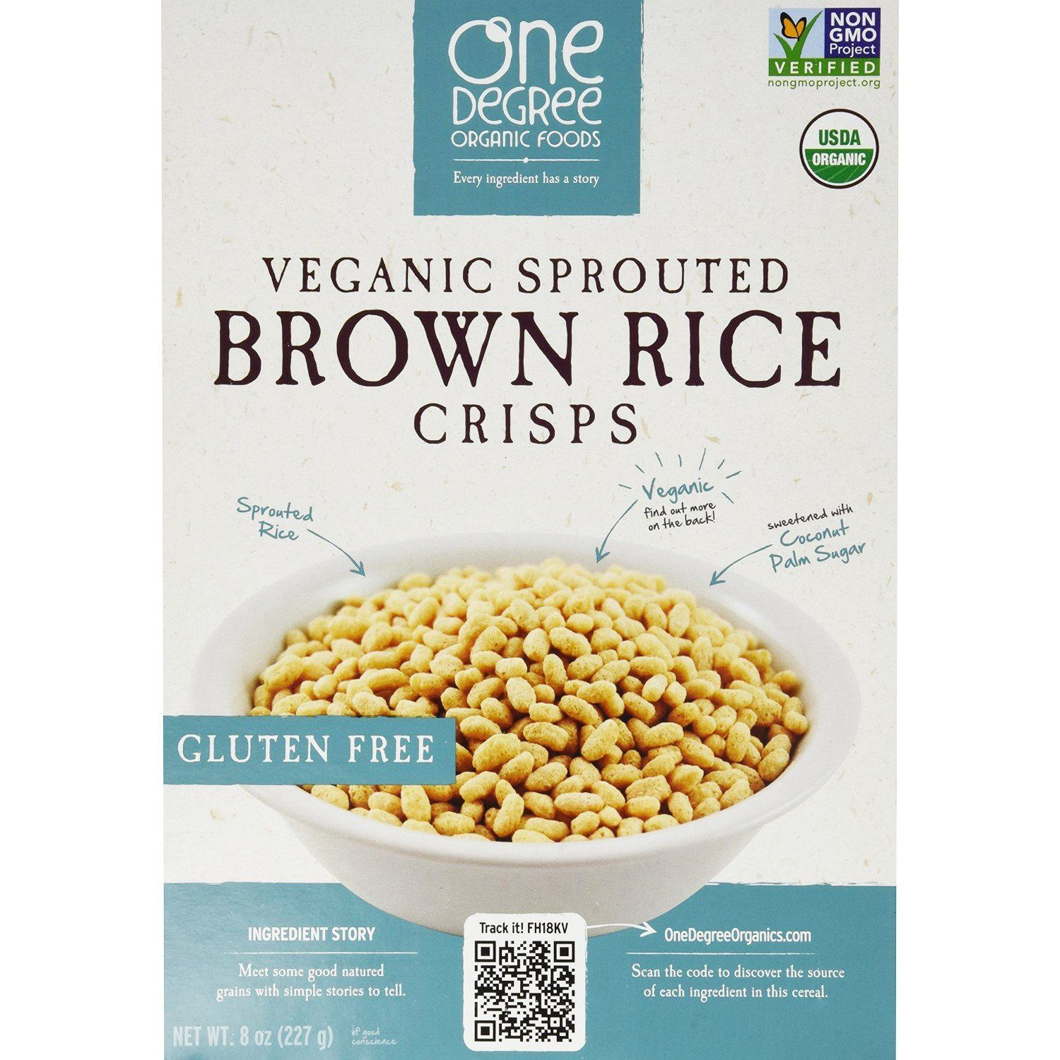 Food & Drink - One Degree Brown Rice Crisps 227g
