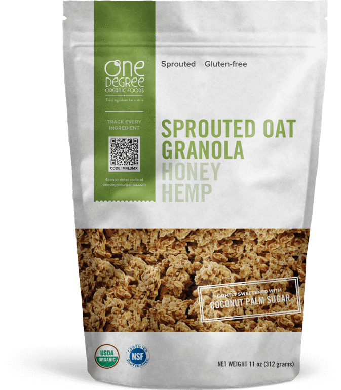 Food & Drink - One Degree - Sprouted Oat Honey Hemp Granola, 312g