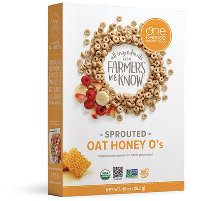 Food & Drink - One Degree - Sprouted Oat Honey O's