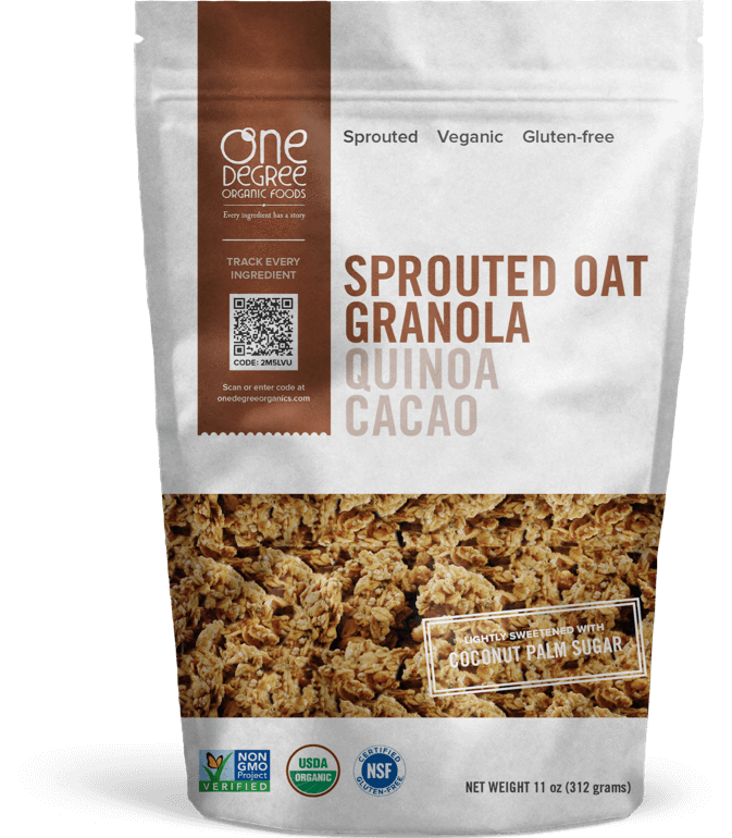 Food & Drink - One Degree - Sprouted Quinoa Cacao Granola, 312g