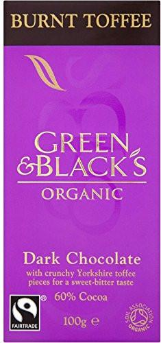 Food & Drink,Organic,Fair Trade - Green & Black's Organic - Burnt Toffee Dark Chocolate, 100g