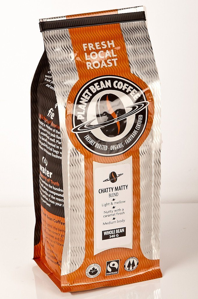 Food & Drink,Organic,Fair Trade - Planet Bean - Chatty Matty Light Roast Coffee, 340g
