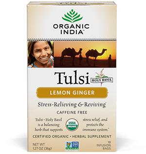 Food & Drink - Organic India - Tulsi Lemon Ginger, 18 Tea Bags