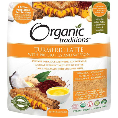 Food & Drink - Organic Traditions - Turmeric Latte With Probiotics, 150g