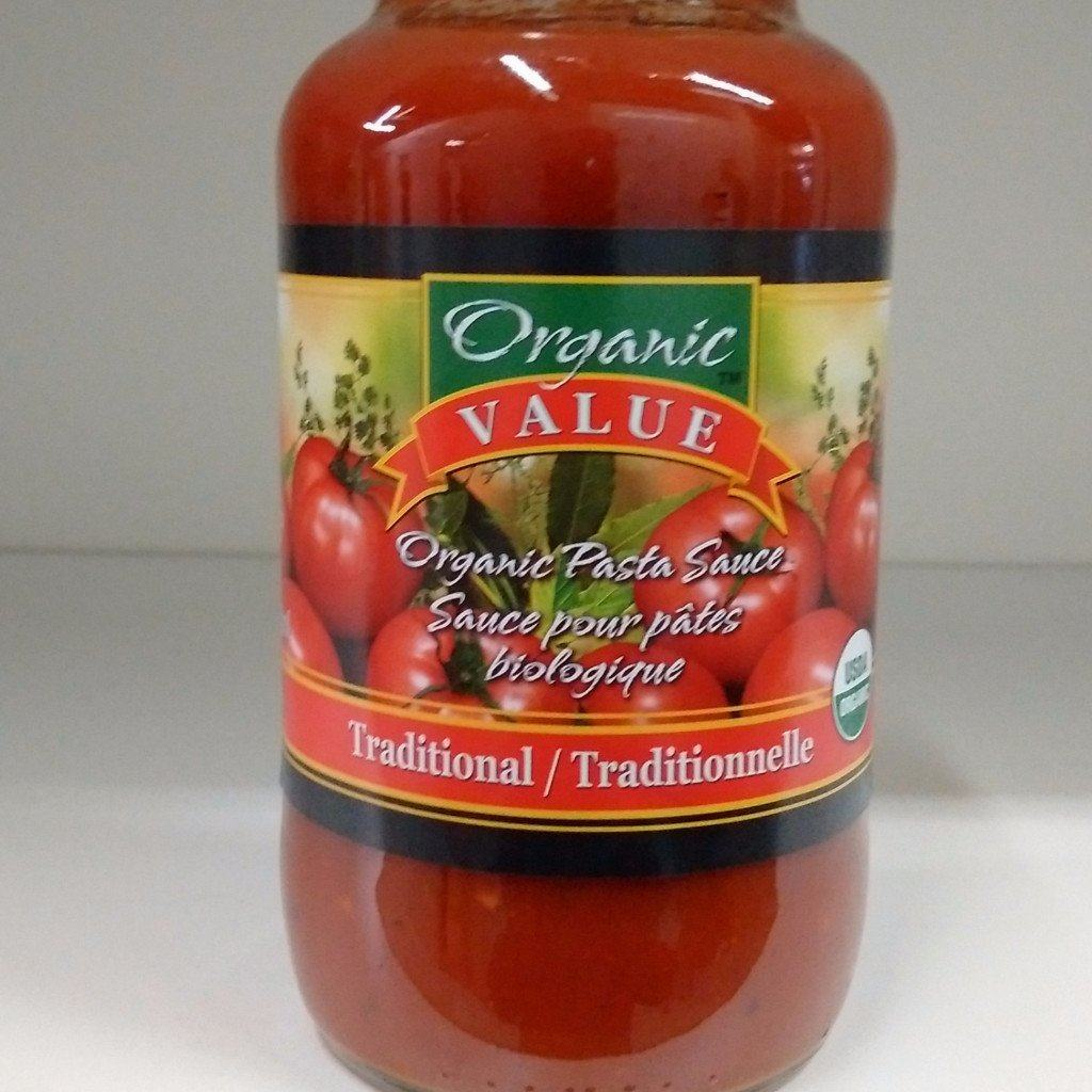 Food & Drink - Organic Value - Org Traditional Pasta Sauce - 737g