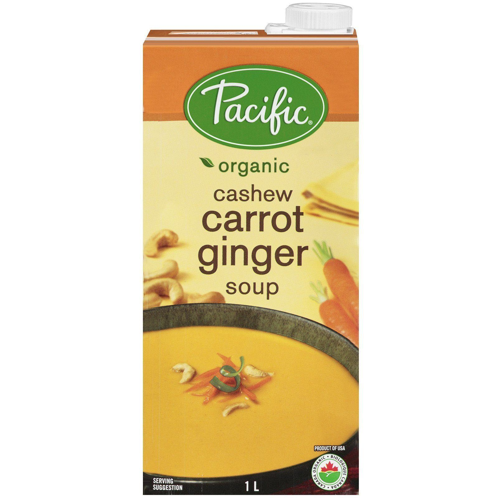 Food & Drink - Pacific - Organic Cashew Carrot Ginger Soup, 1L