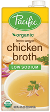 Food & Drink - Pacific - Organic Low Sodium Free Range Chicken Broth, 946ml