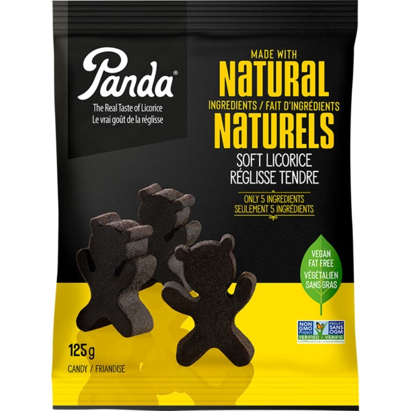 Food & Drink - Panda - Black Licorice Panda's, 125g