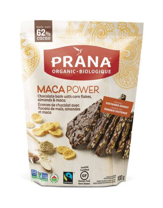 Food & Drink - Prana - Maca Power 62% Dark Chocolate Bark, 100g