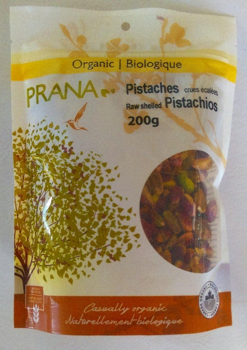 Food & Drink - Prana - Org Raw Shelled Pistachios - 200g