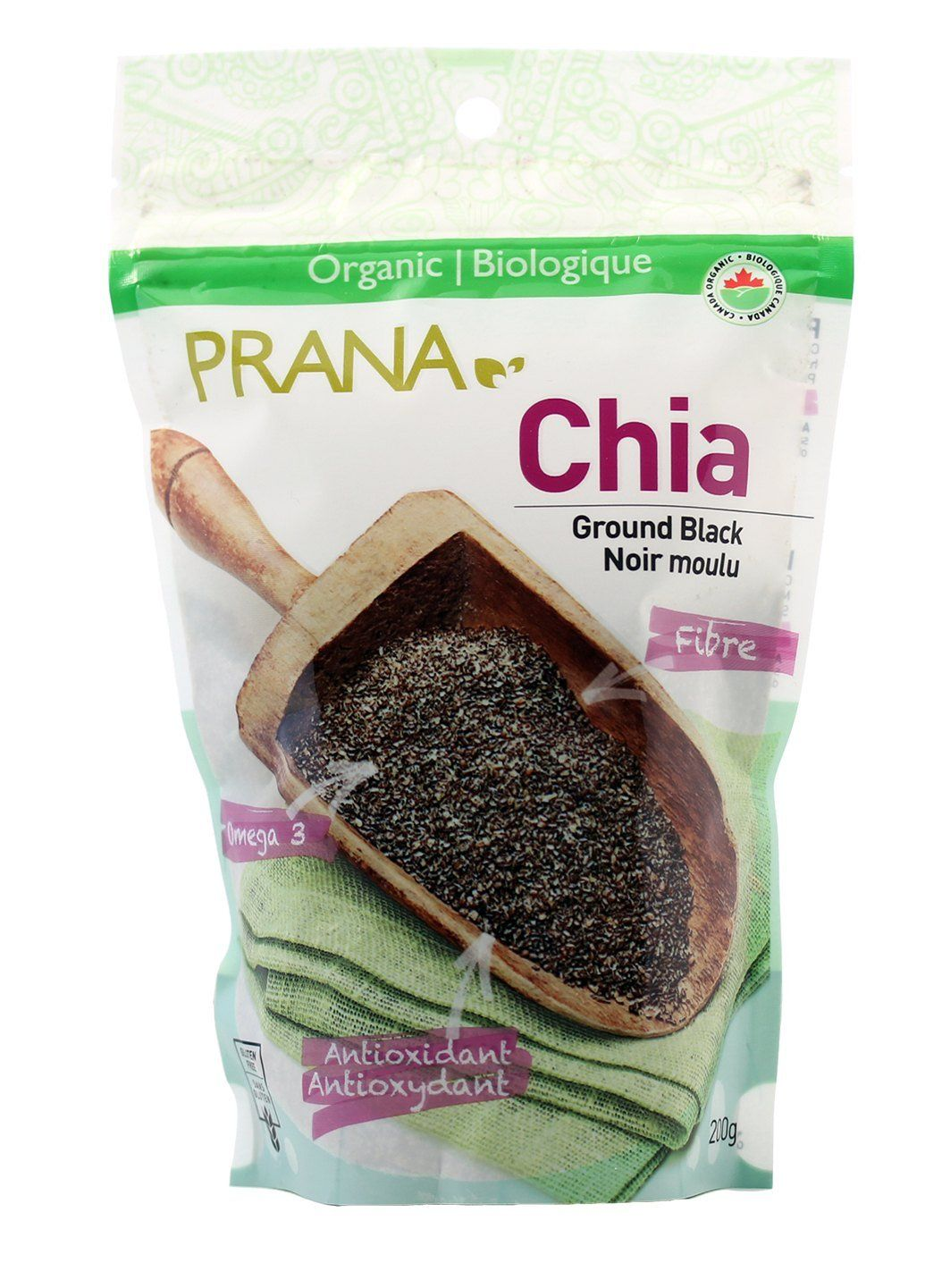 Food & Drink - Prana - Organic Black Ground Chia Seeds, 200g