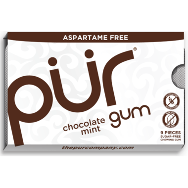 Food & Drink - Pur Gum Chocolate Mint Gum - 9 Pieces