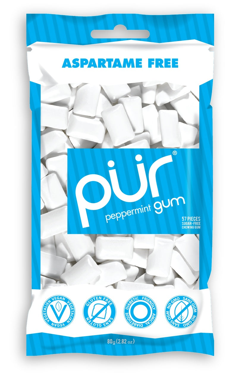 Food & Drink - Pur Gum - Peppermint Gum, 80g