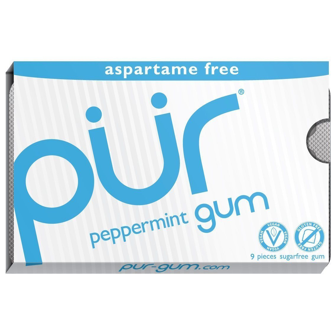 Food & Drink - Pur Gum - Peppermint Gum, 9 Pcs