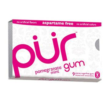 Food & Drink - Pur Gum - Pomegranate Gum, 9 Pcs