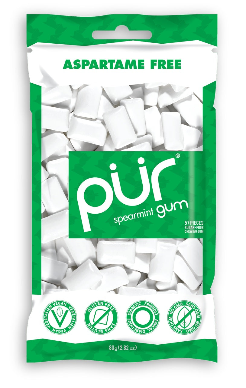 Food & Drink - Pur Gum - Spearmint Gum, 80g
