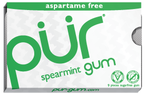Food & Drink - Pur Gum - Spearmint Gum, 9 Pcs