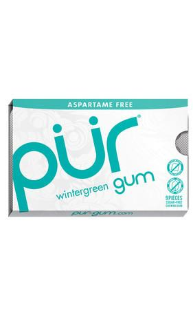 Food & Drink - Pur Gum - Wintergreen Gum, 9 Pcs