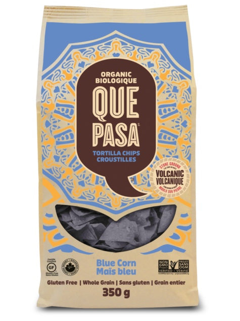Food & Drink - Que Pasa - Tortilla Chips, Blue Corn, 350g
