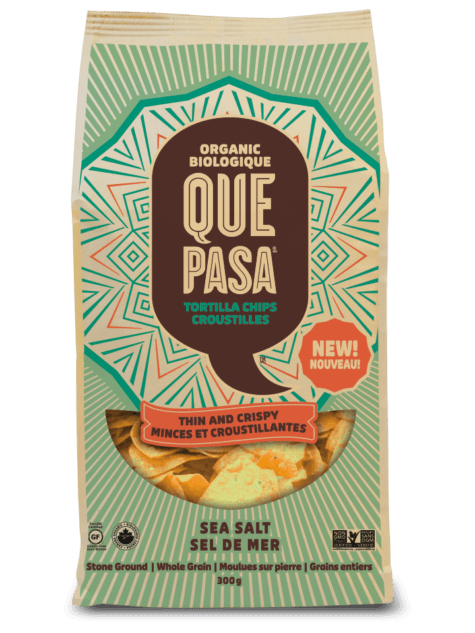 Food & Drink - Que Pasa - Tortilla Chips, Thin & Crispy, Sea Salt, 300g